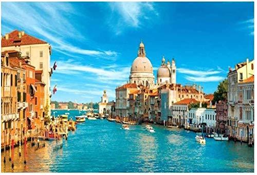 ZHHk Puzzles (Venise City Water) Puzzles, 1000 Pièces Adultes Puzzles, Jeux De Casse-tête for Les Enfants, Enfants Grand Puzzle Game Jouets Cadeau
