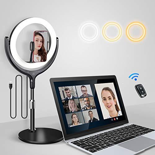 elitehood 10'' Led Ring Light for Laptop Zoom Meeting &...