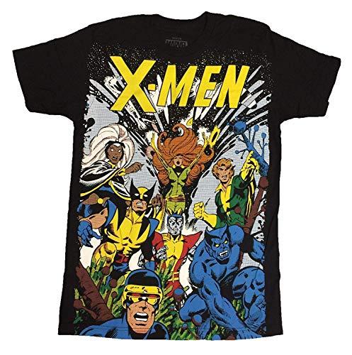 X-Men The Gand Big Print Subway - Camiseta para hombre, color negro