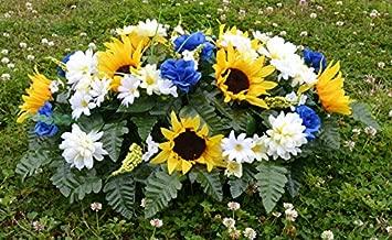Designs by Ellis Deluxe Spring Sunflowers Cemetery Saddle Arrangement