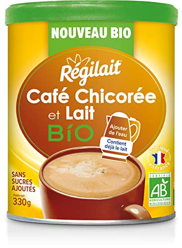 Régilait Café Chicorée au Lait Bio en Poudre 330 g
