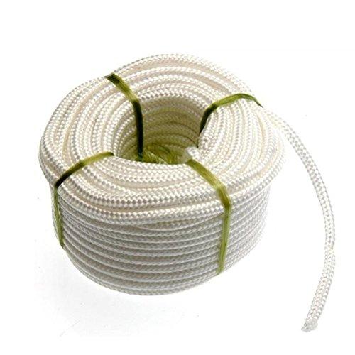 Pixnor 4 mm * 20 m Corde polypropylène Corde tressée pour extérieur Tente Étendoir Utilisation (Blanc)