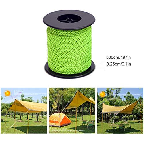 50M outdoor campingtent, reflecterend touw, vast touw, overkapping, spijker, winddicht touw, opbergkabel
