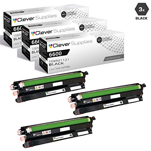 CS Compatible Drum Cartridge Replacement for Xerox 6600 108R01121 Black for Phaser 6600 Phaser 6600DN Phaser 6600N Phaser 6600YDN WorkCentre 6605 WorkCentre 6605DN WorkCentre 6605N 3 Set