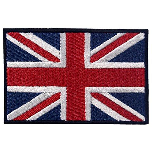 EmbTao British Union Jack Embroidered Patch England Flag UK Great Britain Iron On Sew On Emblem