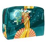 Greek Goddess Aphrodite Portable Makeup Bag (L xW xH)18.5x7.5x13cm Travel Makeup Case Pouch for Women Girls