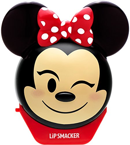 Lip Smacker Disney Emoji Lip Balm, Minnie Mouse, Strawberry Le-Bow-Nade Flavor