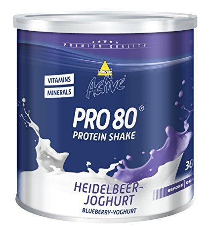 Inkospor Active Pro 80 Protein Shake, Heidelbeer-Joghurt, 750g Dose