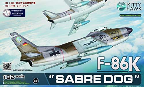 キティホークモデル 1/32 F-86K セイバードッグ KITKH32008 プラモデル