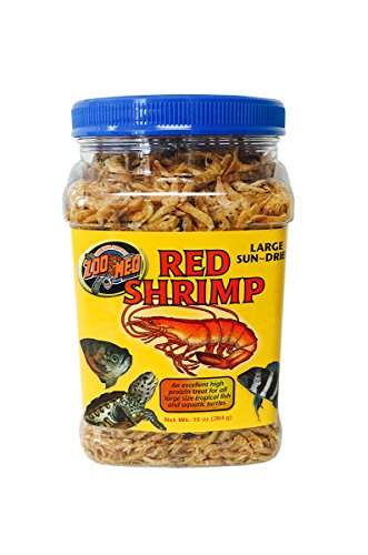 Zoo Med Large Sun-Dried Red Shrimp Aquatic Turtle Food, 10 oz.