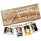 VILIGHT Grandma's Brag Board for Grammy from Granddaughter and Grandson - Nana Grandmothers Photo Holder - 13.5x5.5 Inches abdominal binders May, 2021