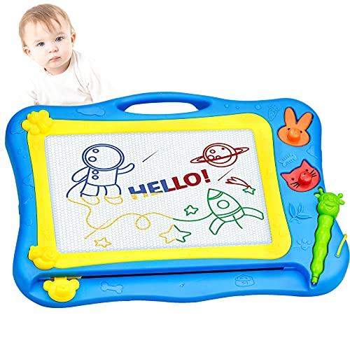 Lavagna Magnetica per Bambini, 8 Colori Grande Lavagnetta Magica Tavola da Disegno Cancellabile Educativi Regalo per 3+ Anni Bambini