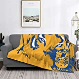 Tigres Uanl Mexican Football Club Logo Soft Lightweight Flannel Blanket for Bed Sofa Travelling Camping