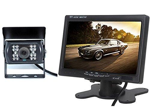 BW 7 pouce LED moniteur en couleurs+caméra vue arrivé étanche caméra vue nuit pour Bus Truck 12V - 24V