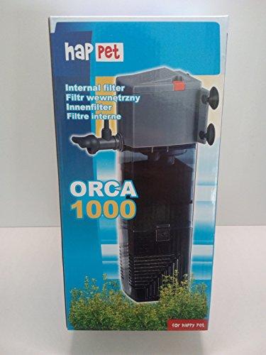 Happet ORCA Kompakt Innenfilter inkl. Aktivkohle box Filter BIO Aquariumfilter Aquafilter (Happet Orca 1000)