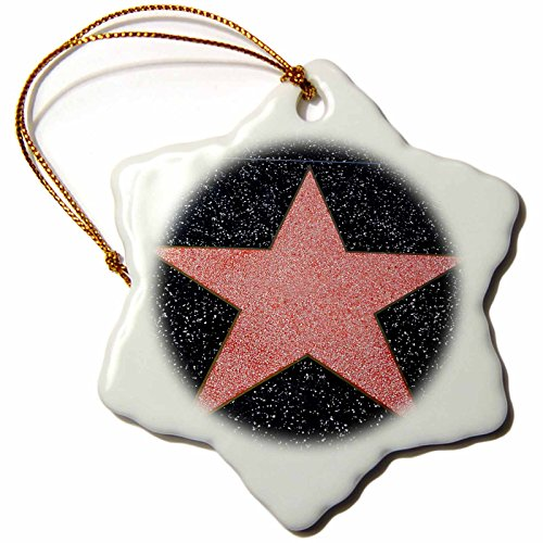 3dRose Los angeles, Hollywood, blank star on Hollywood Walk of Fame - Snowflake Ornament, 3-inch (orn_230072_1)