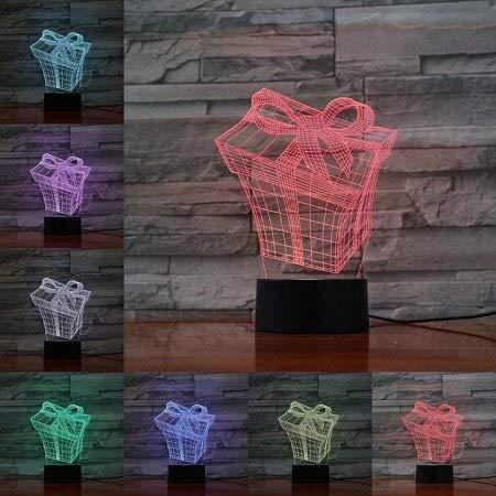 (Nur 1) Weihnachtsserie 3D-Lichter 7 Farben ändern die festliche Stimmung der Nachtlichtdekoration niedliche Kindergeschenke Geburtstagsgeschenkdekoration