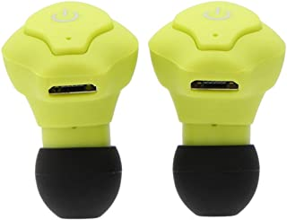 Lightweight Portable Mini Wireless Earphone Stereo Earbud Heahphone Headset for All Smart Phone - Yellow