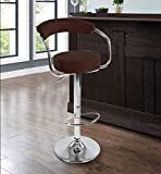STYLBASE Height Adjustable Bar Cafeteria Stool Chair, Black