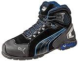 Puma 632250-256-45 Rio Mid S3 SRC Sicherheitsschuhe Größe 45, Schwarz, Grau/Blau/Weiß