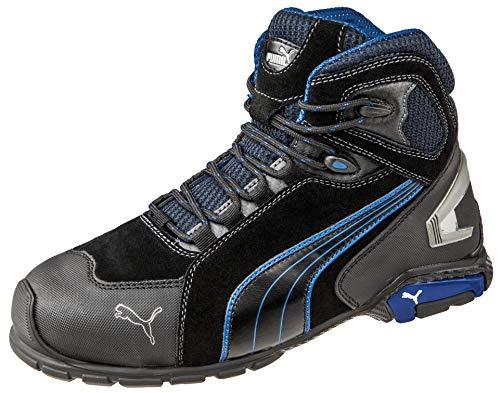 Puma 632250-256-46 Chaussures de sécurité Rio Mid S3 SRC Taille 46, Noir/Gris/Bleu/Blanc
