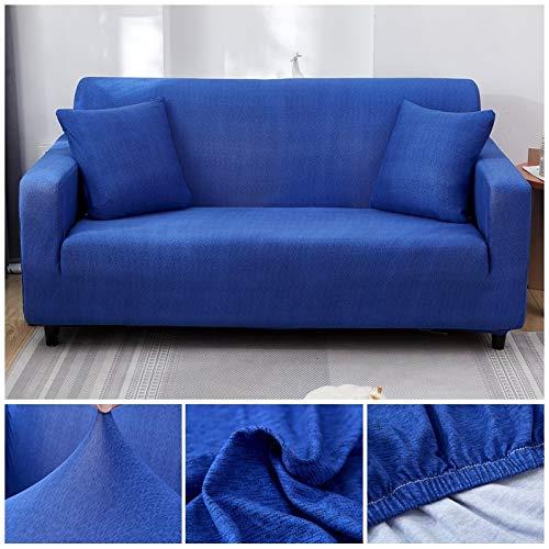 WXQY Funda de sofá con patrón geométrico Funda de sofá elástica Funda de sofá de Sala de Estar en Forma de L sofá de Esquina Toalla sillón Funda de sofá A21 4 plazas
