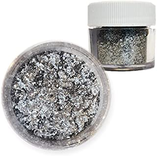 Sterling Silver Tinker Dust Edible Glitter 5g Jar | Bakell Food Grade Gourmet Dessert, Foods, Drink Garnish | Pearlized Shimmer Sparkle Sprinkle