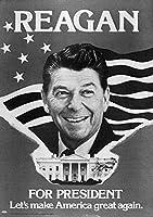 Ronald Reagan (1911-2004) N40Th United States ReaganS 公式キャンペーンポスター 1980年の大統領選挙 ポスター プリント (18 x 24)