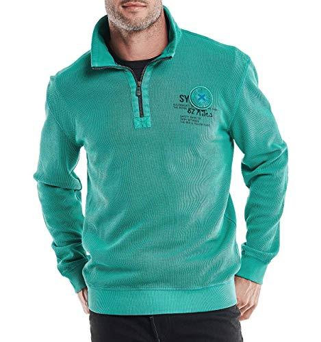 engbers Herren struckturiertes Sweatshirt, 26733, Türkis in Größe 4XL