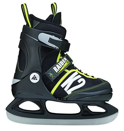 K2 Kinder Schlittschuhe RAIDER ICE, schwarz/grau/gelb, 35-40, 25A0203.1.1.L