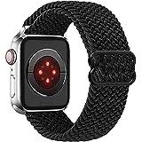 Vecann intrecciato Nylon Cinturino Solo Loop compatibile con Apple Watch 38mm 40mm 42mm 44mm, regolabile Sport Elastici Cinturino di ricambio traspirante compatibile con iWatch serie SE 6/5/4/3/2/1