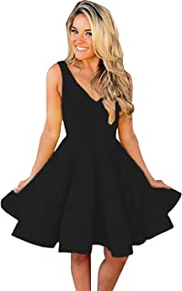 Homecoming Dresses Short V Neck A-Line Prom Dress for Women Formal Party Gowns