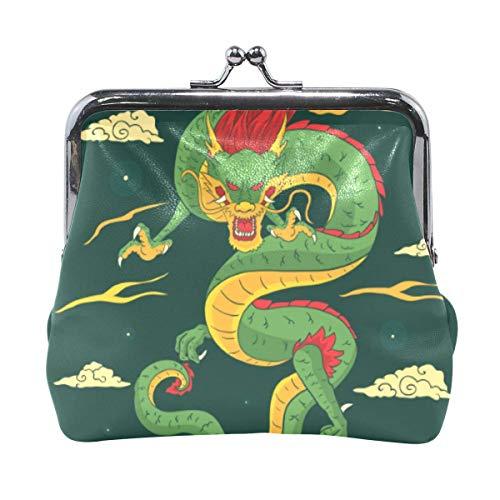 Traditionele Chinese Dragon Coin Handtas Koppeling Kleine Buidelzak Portemonnee Cash Bag Card Change Houder-J37-MK