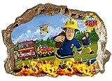Wandaufkleber Feuerwehrmann Sam, für Kinderzimmer, Jungen