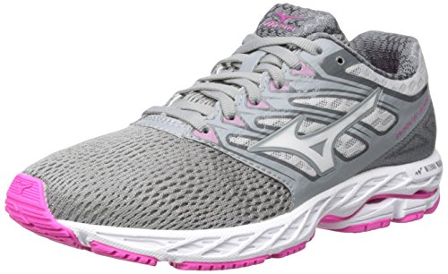 Mizuno Running Women's Wave Shadow Shoes, Griffin/White/Electric, 7.5 B US