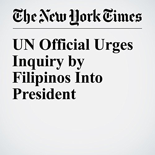 UN Official Urges Inquiry by Filipinos Into President cover art