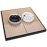 TTSHOP Juego de Mesa Plegable Weiqi, Juego de Tablero de ajedrez Plegable, Juegos educativos para familias, niños, Adultos