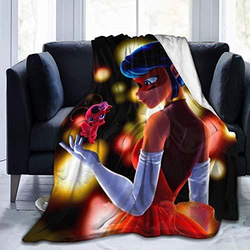 Llavero de pulsera de acción Mayura Mira-cul-ous La-dy-bug pegatina temporada 4 mantas decorativas acogedoras mullidas súper suaves regalo del día de la madre para sofá microfibra 60 x 50 pulgadas