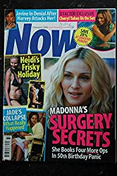 NOW 2008 08 Cover MADONNA + 2 pages Beckam Heidi Klum Lily Allen