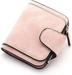 GUMAOPAJIAAAqb Monederos de Mujer, Brand Wallet Women 2021 New Women's Short Wallet Korean Buckle Sanded Leather Coin Purs...