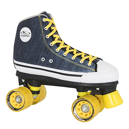 HUDORA Rollschuhe Roller-Skates Blue Denim, Disco-Roller, Gr. 36, 13010