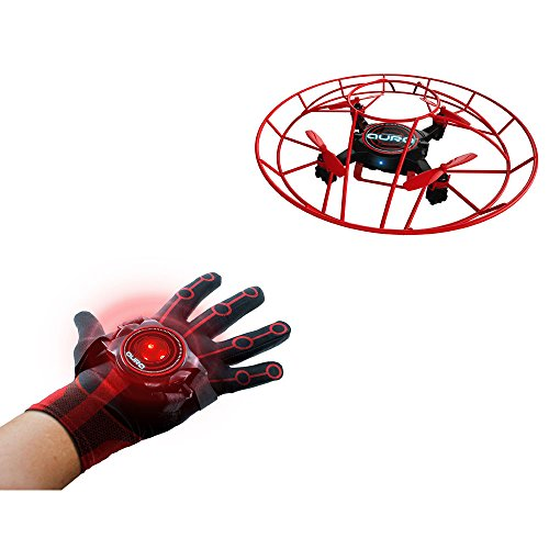 KD Interactive- Dron Aura, Color Negro/Rojo (KD UK AURA1-C)