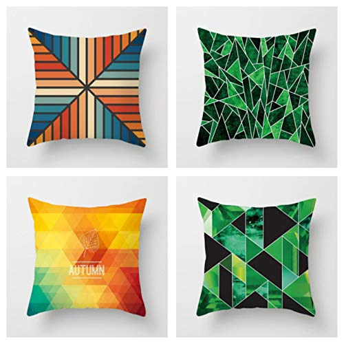 Colorful Geometry Pattern Cushion Covers Home Decorative Pillows Case Throw Pillows Cover Map Pillow Case For Sofa No.5