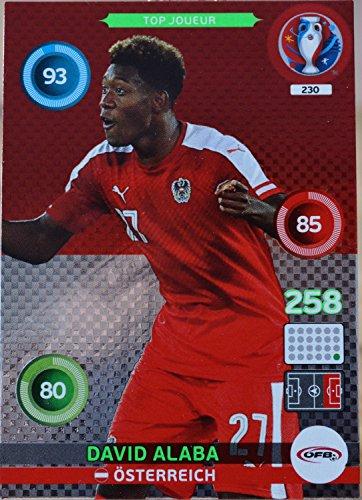 carte PANINI EURO 2016 #230 David Alaba