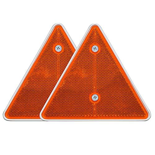 Bajato : Lot de 2 triangles orange arrière réfléchissants pour remorque ou châssis de caravane- 15000302