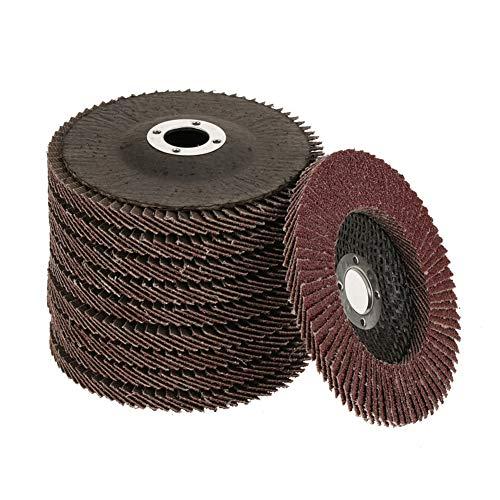 Muela Abrasiva, 10 Piezas de Grano 60 Disco de Lijado de Pulido Rueda de Pulido Disco de Aleta de Pulido Abrasivos de óxido de Aluminio Amoladora Angular de 100 Mm 100 * 6 * 16 Mm