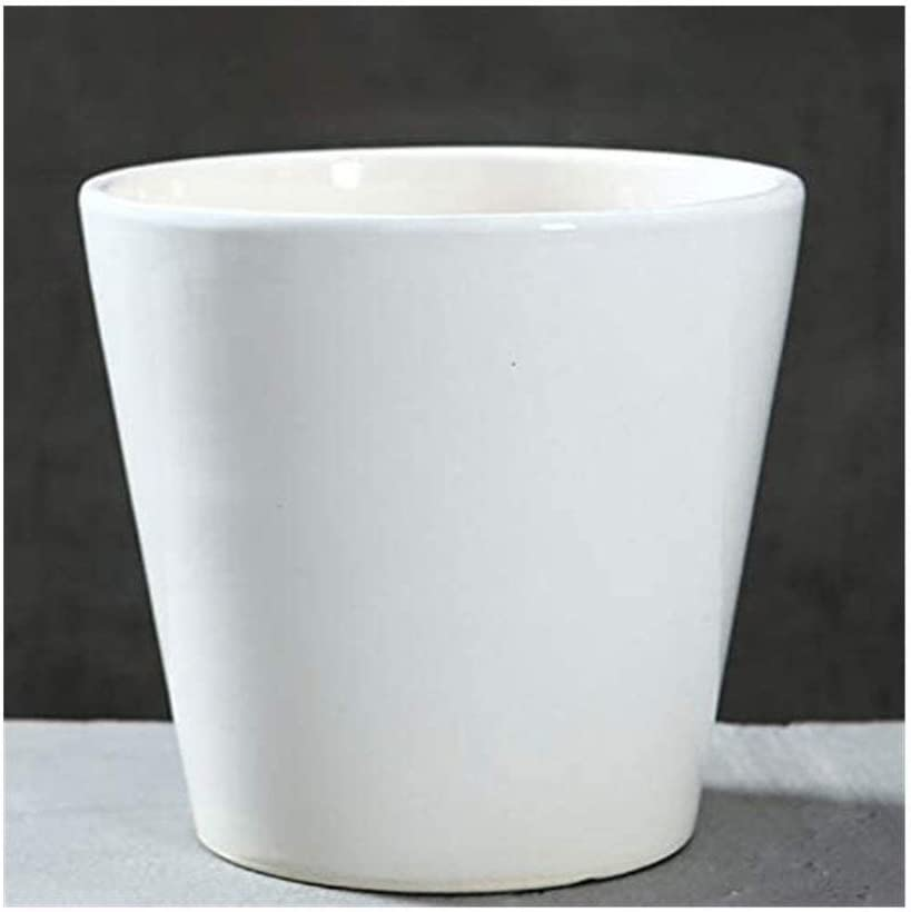 Flowerpot Home In Max 85% OFF a popularity Color of The Ceramic Drain Pot Hole Flower Green
