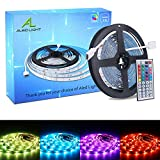 ALED LIGHT Tiras LED 5050 RGB 5m de Longitud 150 LED Multicolor Control Remoto...
