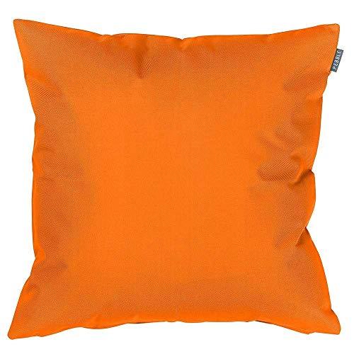 Puf Bazaar Cojín para exteriores, 43 cm, relleno de fibra, moderno, resistente al agua, para silla de jardín o patio moderno naranja