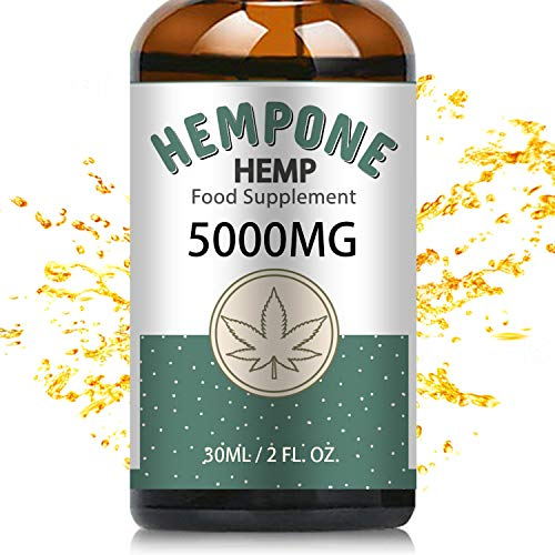 Hempone Hemp Natural Oil Premium Support 5000mg-30ml – Vitamins & Fatty Acids - Omega 3-6-9, Superstrong Formula Best From the US